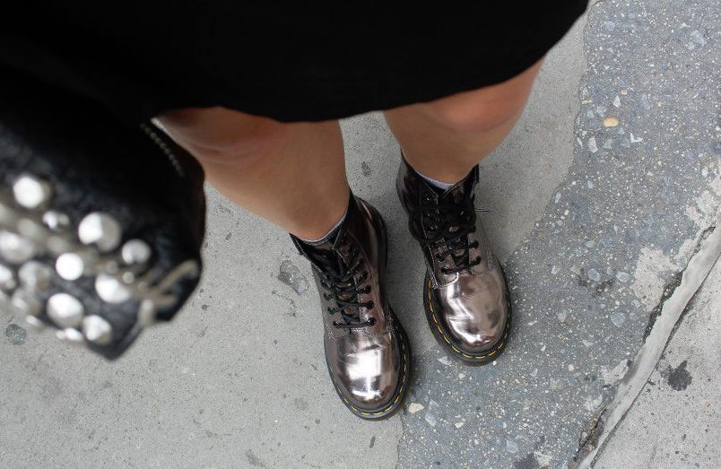 dr martens new shoes shiny