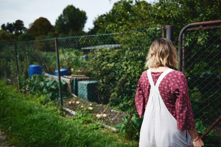 Our Morning with Ruby and Rosie (The Allotment)
